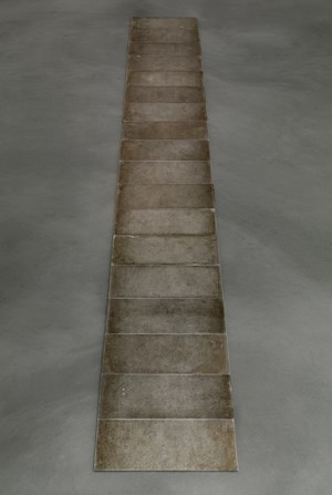 18 Aluminum Row by Carl Andre contemporary artwork