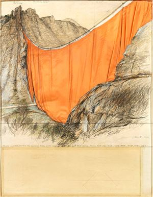 Valley Curtain (Project for Colorado) by Christo contemporary artwork