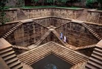 Women in a step well, Rajasthan, India by Steve McCurry contemporary artwork photography