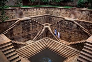 Women in a step well, Rajasthan, India by Steve McCurry contemporary artwork