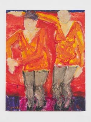 Identical Twins by Sargy Mann contemporary artwork