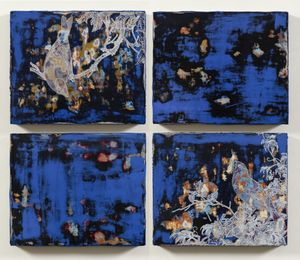 Imitating Lacquer Exercise (Birds Of Giuseppe Castiglione) by Su Meng-Hung contemporary artwork painting