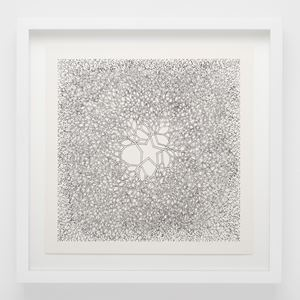 Desert Star (P.004, Tied wire tree with asymmetrical five pointed star in center branching to an enclosed square) by Ruth Asawa contemporary artwork