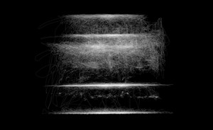 Motion Capture Drawing [SPDR] Facing View by Susan Morris contemporary artwork