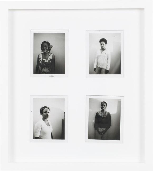 Black and White Polaroid Series #3 by Mickalene Thomas contemporary artwork