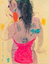 Yawning Lady Boy 1 by Wang Yuping contemporary artwork painting