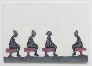 Supplication In Alabaster by Wangari Mathenge contemporary artwork