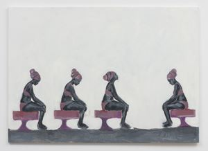 Supplication In Alabaster by Wangari Mathenge contemporary artwork