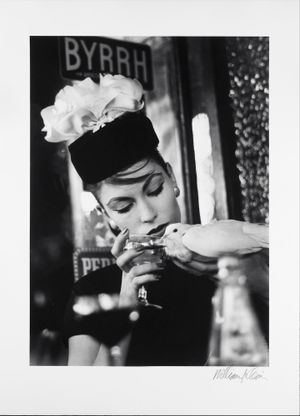 Mary + Dove at Cafe, Paris (Vogue) by William Klein contemporary artwork