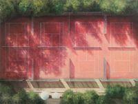 Untitled (Tenniscourt) by Melanie Siegel contemporary artwork painting