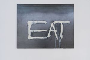 eat the rich (eat) by Mire Lee contemporary artwork painting, sculpture