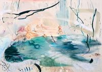 Openness closes in by Araminta Blue contemporary artwork painting