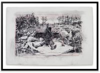 Drawing for City Deep (Miner Beside Pit) by William Kentridge contemporary artwork works on paper, drawing
