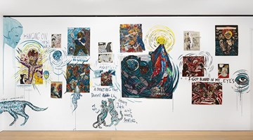 Contemporary art exhibition, Marcel Dzama and Raymond Pettibon, Let us compare mythologies at David Zwirner, London
