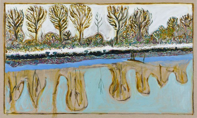 the serenity of stillness by Billy Childish contemporary artwork