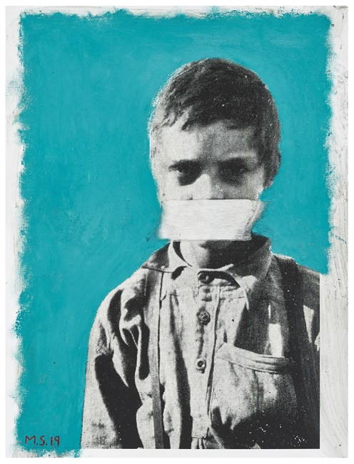 Education and the Poor White (or Boy suffering from Malaria. His whole diet consists of mealiemeal and coffee - all without sugar or milk) by Mikhael Subotzky contemporary artwork