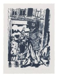 Hofgesellschaft by Neo Rauch contemporary artwork works on paper