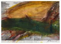 Zürich by Arnulf Rainer contemporary artwork works on paper, drawing