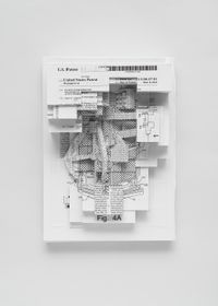 Document relief 3 (Amazon Worker Cage patent) by Simon Denny contemporary artwork mixed media