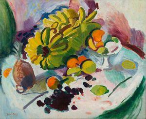 Compotier, bananes et fruits sur un entablement by Raoul Dufy contemporary artwork