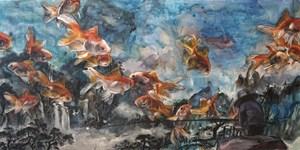 行到水窮處,坐看雲起時。//The lovers, the dreamers and me by Vivian Ho contemporary artwork