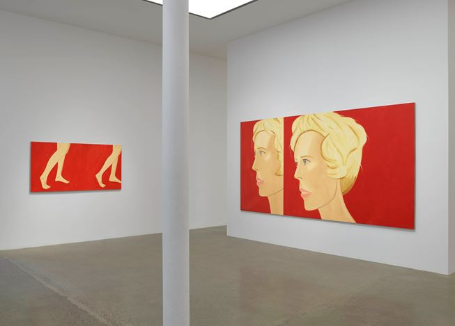Exhibition view: Alex Katz, Coca-Cola Girls, Timothy Taylor, London(2 November–21 December 2018). Courtesy Timothy Taylor.
