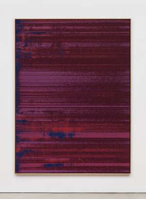 Negative Entropy (Inscape, Breathing Exercise, Full Width, Burgundy, Quad) by Mika Tajima contemporary artwork