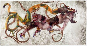 A dragon kiss always ends in ashes by Wangechi Mutu contemporary artwork