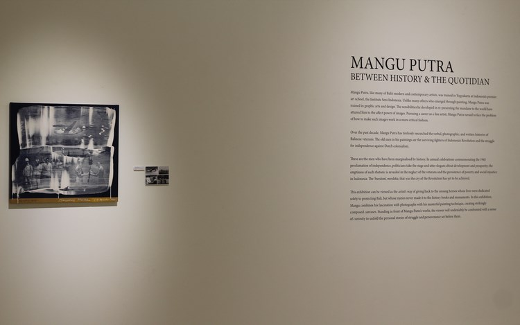 Mangu Putra,Between History and Quotidian, Exhibition view at Gajah Gallery, Singapore. Image courtesy ofGajah Gallery, Singapore.