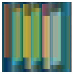 Physichromie 2574 by Carlos Cruz-Diez contemporary artwork