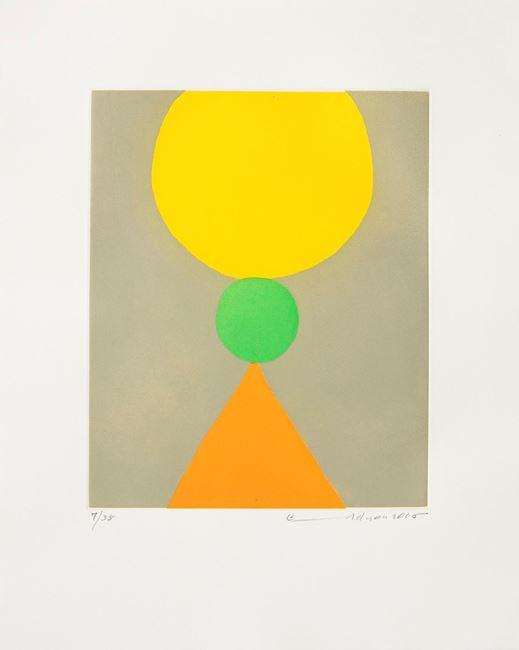Poids du Monde V by Etel Adnan contemporary artwork