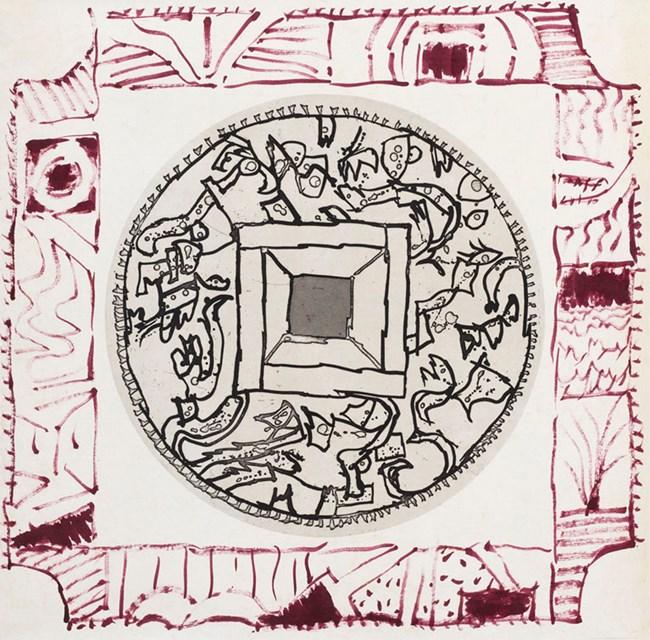 L'Eté 17 - VI by Pierre Alechinsky contemporary artwork