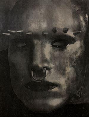 Rainbow Warrior (Face I) by Tobias Bernstrup contemporary artwork mixed media