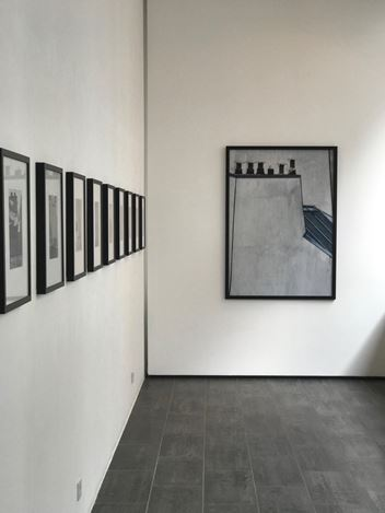 Exhibition view: André Kertész, Michael Wolf, Rooftops, Gallery FIFTY ONE TOO, Antwerp (10 September–26 October 2019). Courtesy Gallery FIFTY ONE.
