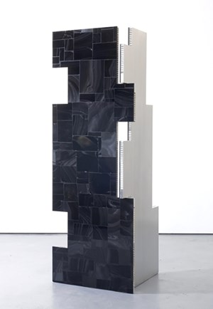 A Parliament of Some Things (Additive and Subtractive Sculpture, Obsidian Screen, Panels 1 & 2) by Mark Hagen contemporary artwork
