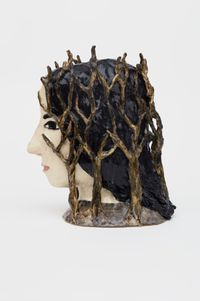 Taken by trees by Klara Kristalova contemporary artwork sculpture
