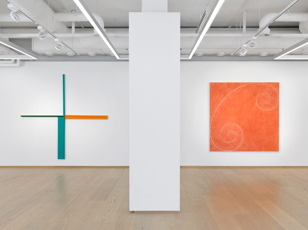 Exhibition view: Robert Mangold, Pace Gallery, Geneva(7 May–31 July 2019). Courtesy Pace Gallery.