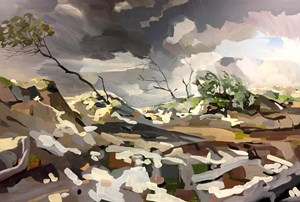Storm Backdrop by Oliver Watts contemporary artwork