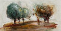 Paysage - fragment by Pierre-Auguste Renoir contemporary artwork painting, works on paper