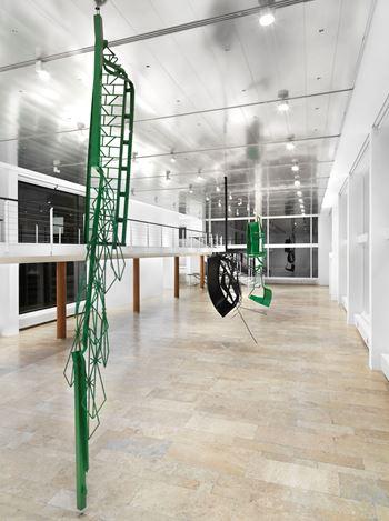 Exhibition view:Monika Sosnowska, Capitain Petzel, Berlin (18 January–23 February 2019). Courtesy Capitain Petzel, Berlin. Photo: Jens Ziehe.