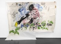 In my garden by Gareth Nyandoro contemporary artwork painting, works on paper
