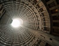 Looking up the core 2, Ponte City (3222) by Mikhael Subotzky and Patrick Waterhouse contemporary artwork photography