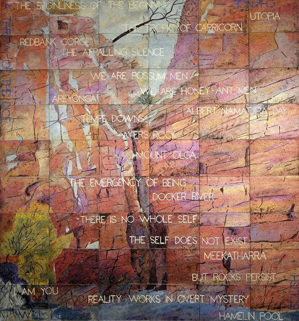 At the Beginning by Imants Tillers contemporary artwork