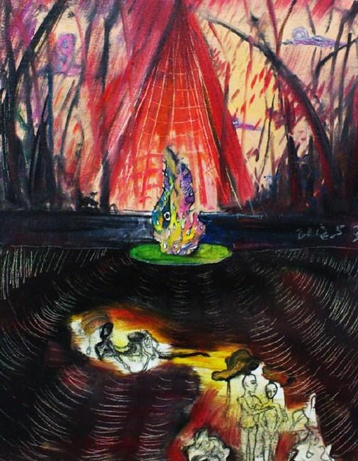 Crying Taihu Stone by Zou Sijin contemporary artwork