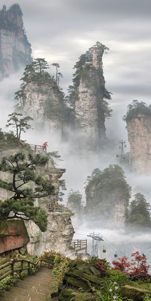 Amidst Towering Peaks (after Ma Yuan) by Emily Allchurch contemporary artwork