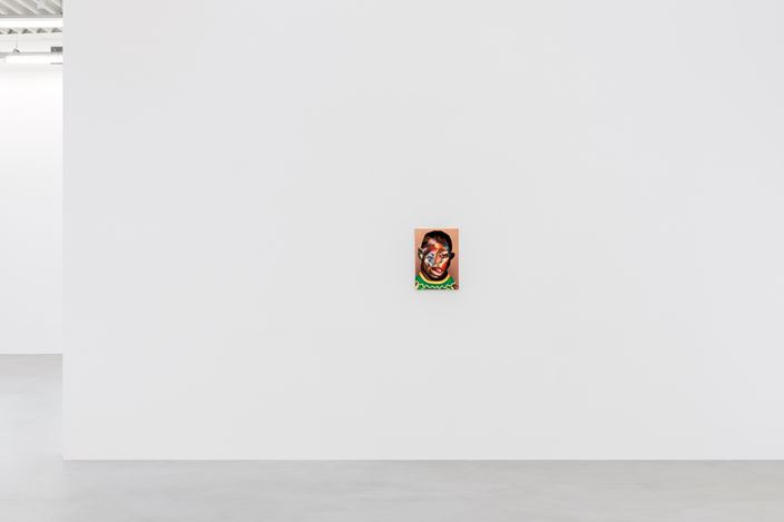 Exhibition view: Nathaniel Mary Quinn, ALWAYS FELT, RARELY SEEN, Almine Rech Gallery, Brussels (14 March–10 April 2019). © Nathaniel Mary Quinn. Courtesy the Artist and Almine Rech. Photo: Hugard & Vanoverschelde Photography.