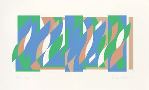 After Wall Painting (Arcadia 3) by Bridget Riley contemporary artwork