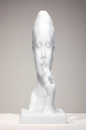 Silence by Jaume Plensa contemporary artwork