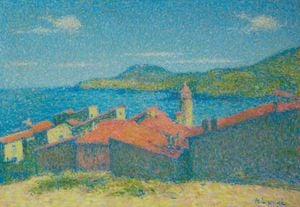 Vue de Collioure depuis le Mores by Achille Laugé contemporary artwork