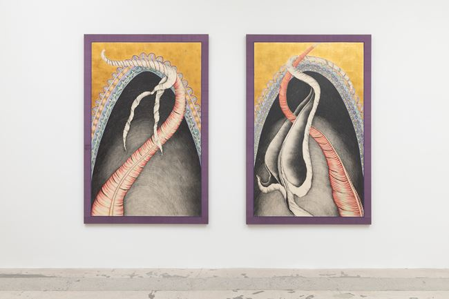 Euronyme & Ophion by Faith Wilding contemporary artwork